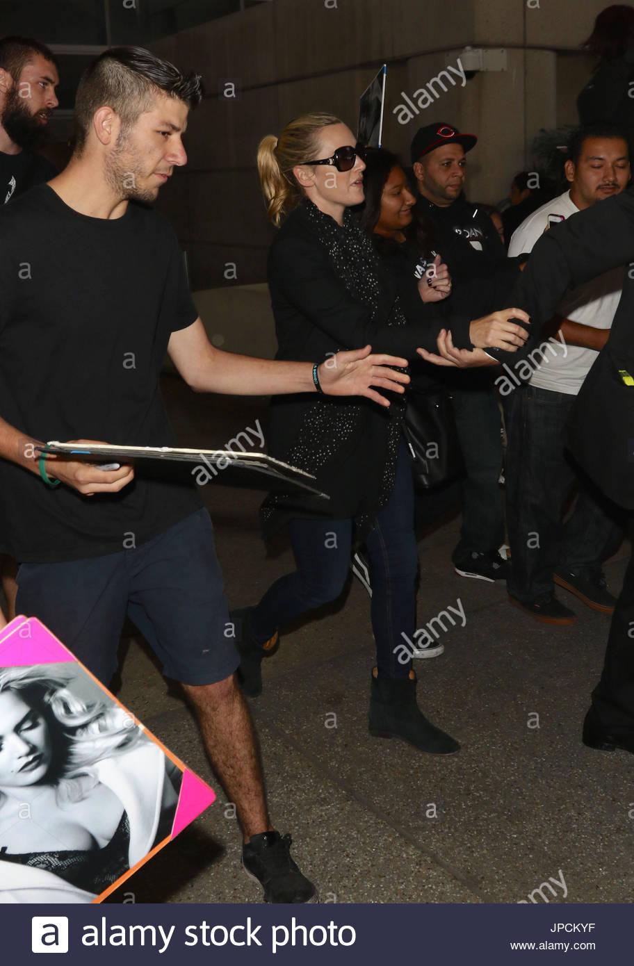 Kate Winslet. Kate Winslet gesichtet am LAX Flughafen Stockbild