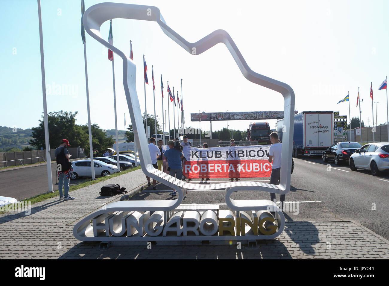 Budapest, Ungarn. 2. August 2017. 1. August 2017, Hungaroring, Budapest, Ungarn; Formel 1 In Saison-Test; Roberta Stockbild