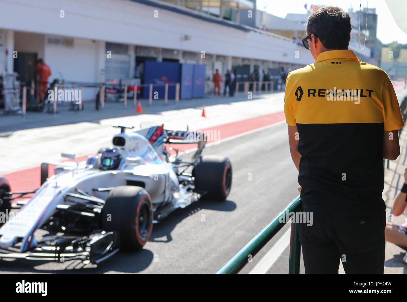 Budapest, Ungarn. 2. August 2017. 1. August 2017, Hungaroring, Budapest, Ungarn; Formel 1 In Saison-Test; Robert Stockbild
