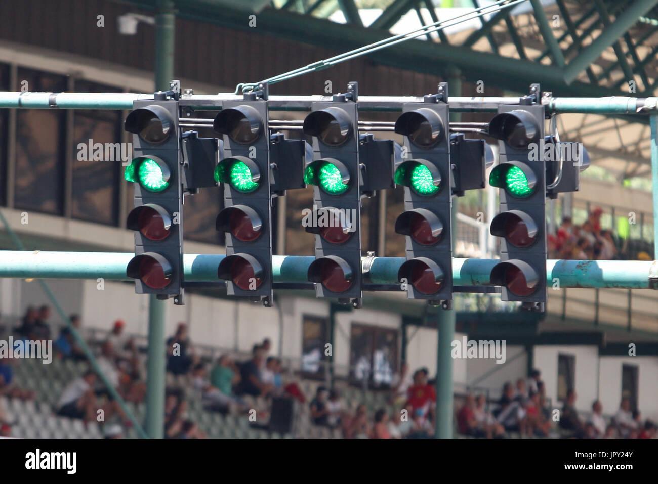 Budapest, Ungarn. 2. August 2017. 1. August 2017, Hungaroring, Budapest, Ungarn; Formel 1 In Saison-Test; Raster Stockbild