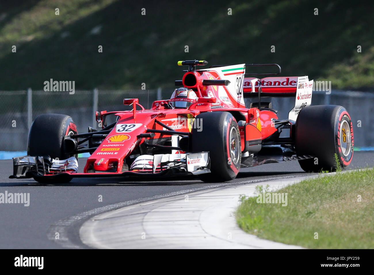 Budapest, Ungarn. 2. August 2017. 1. August 2017, Hungaroring, Budapest, Ungarn; Formel 1 In Saison-Test; Charles Stockbild