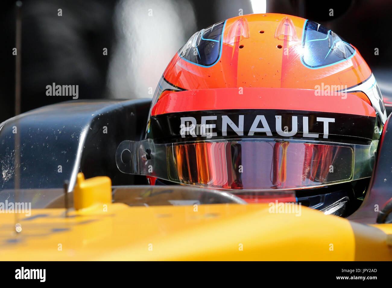 Budapest, Ungarn. 2. August 2017. 2. August 2017, Hungaroring, Budapest, Ungarn; Formel 1 In Saison-Test; Robert Stockbild
