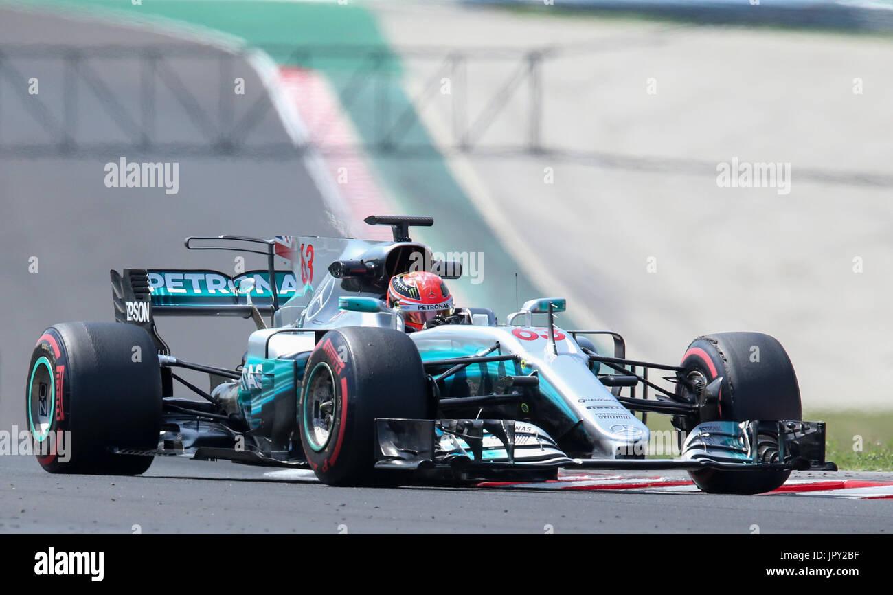 Budapest, Ungarn. 2. August 2017. 2. August 2017, Hungaroring, Budapest, Ungarn; Formel 1 In Saison-Test; George Stockbild
