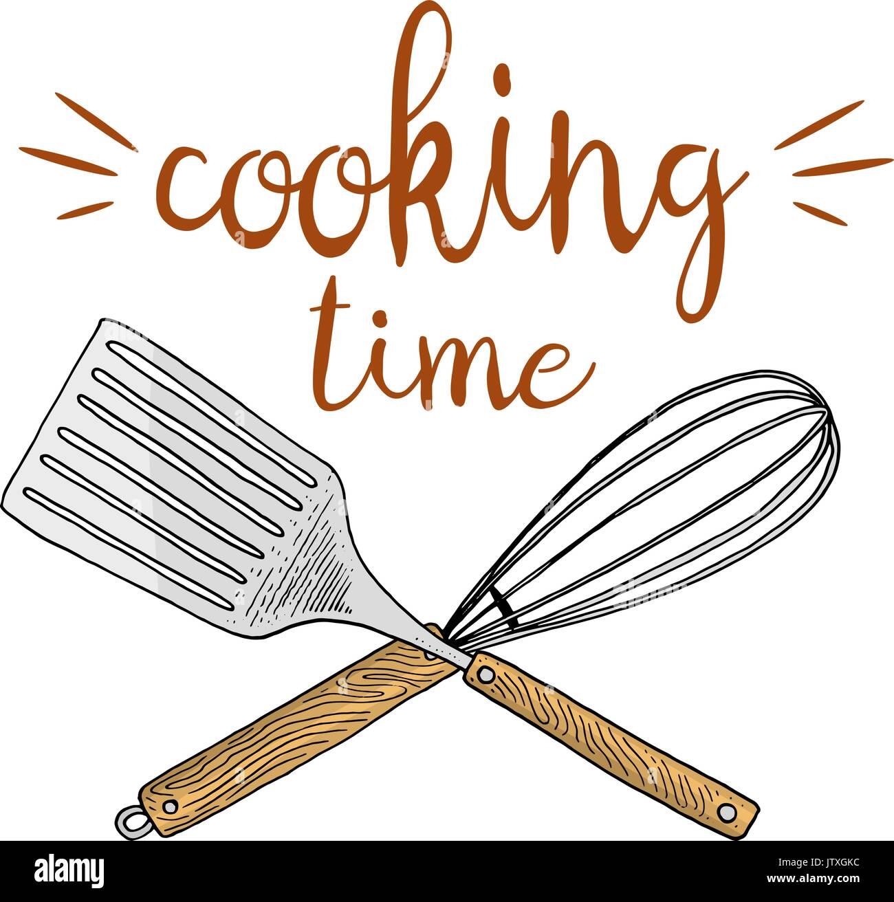 Quirl oder die Küche, Kochen Material für Menü Dekoration. Backen ...