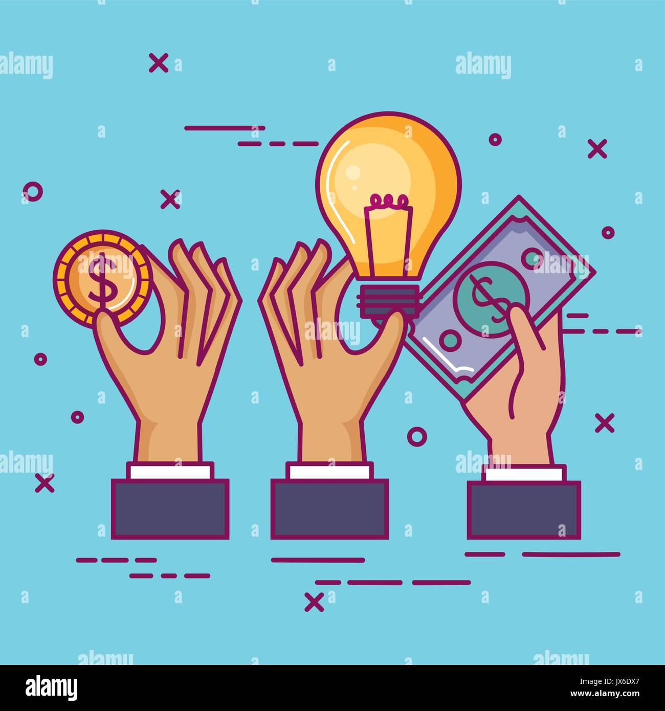 Crowdfunding sponsor Zusammenarbeit Spende kollektive Stockbild