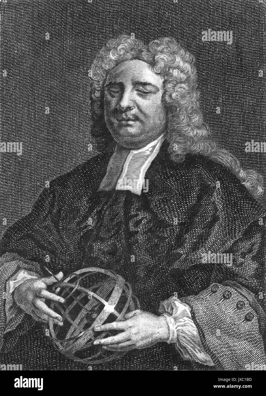 NICHOLAS SAUNDERSON (1682-1739) Blinder Englische Wissenschaftler und Mathematiker Stockbild