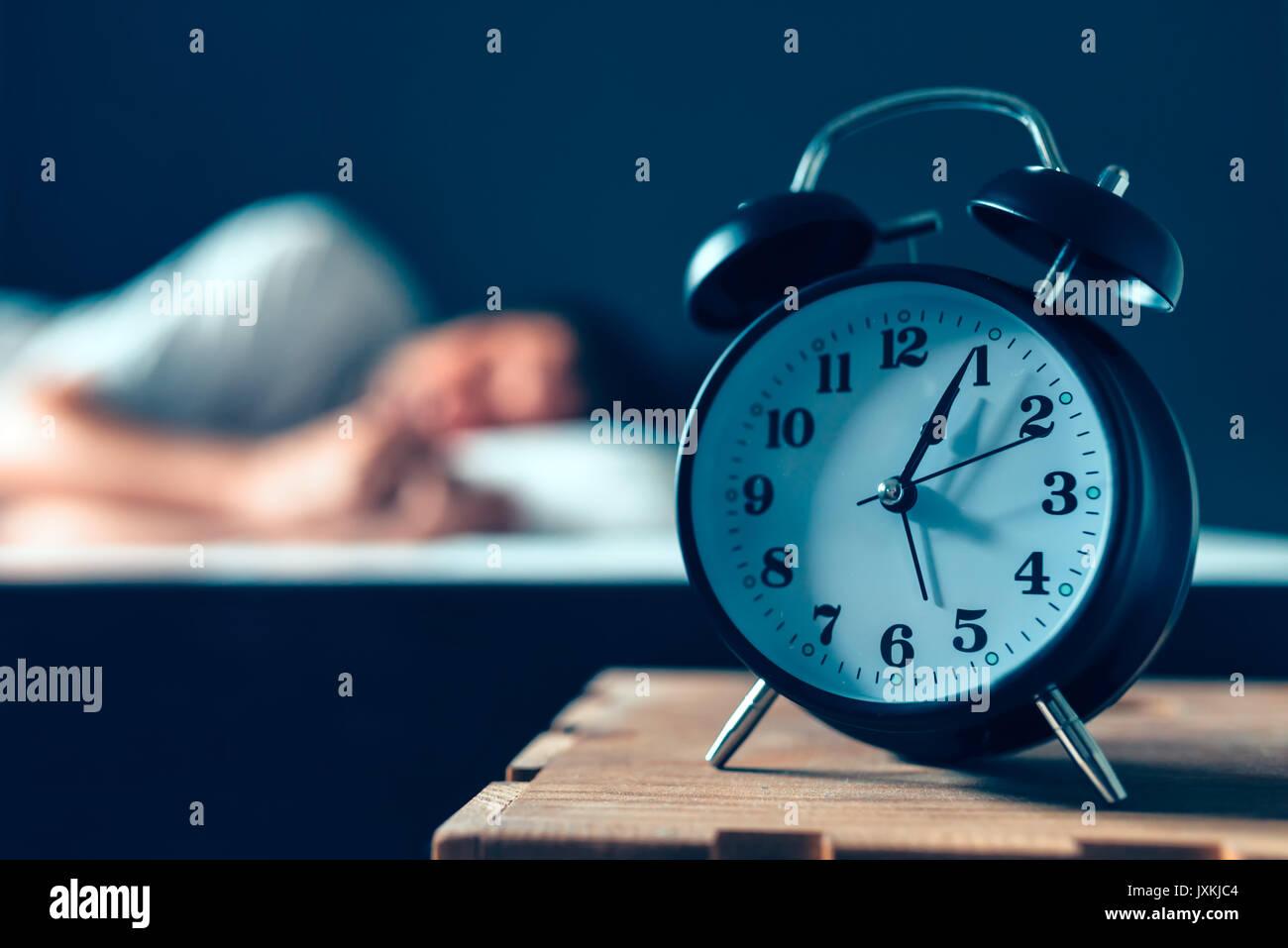 Schlafstorungen Oder Schlaflosigkeit Konzept Selektiver Fokus Der
