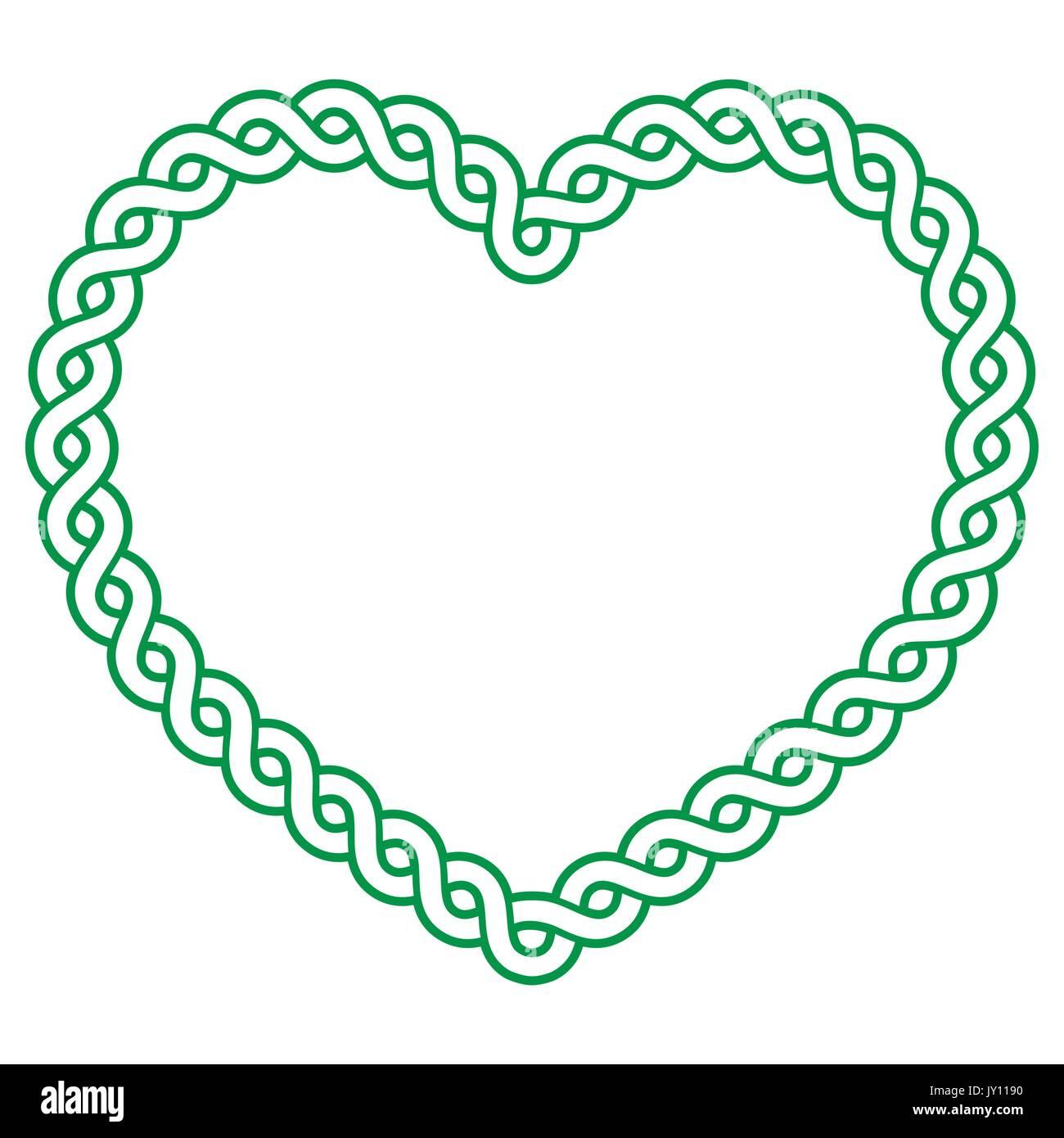 keltische muster grn herz liebe konzept bav st patricks day valentines irischen keltischen herzen muster isoliert auf weiem - Konzept Muster
