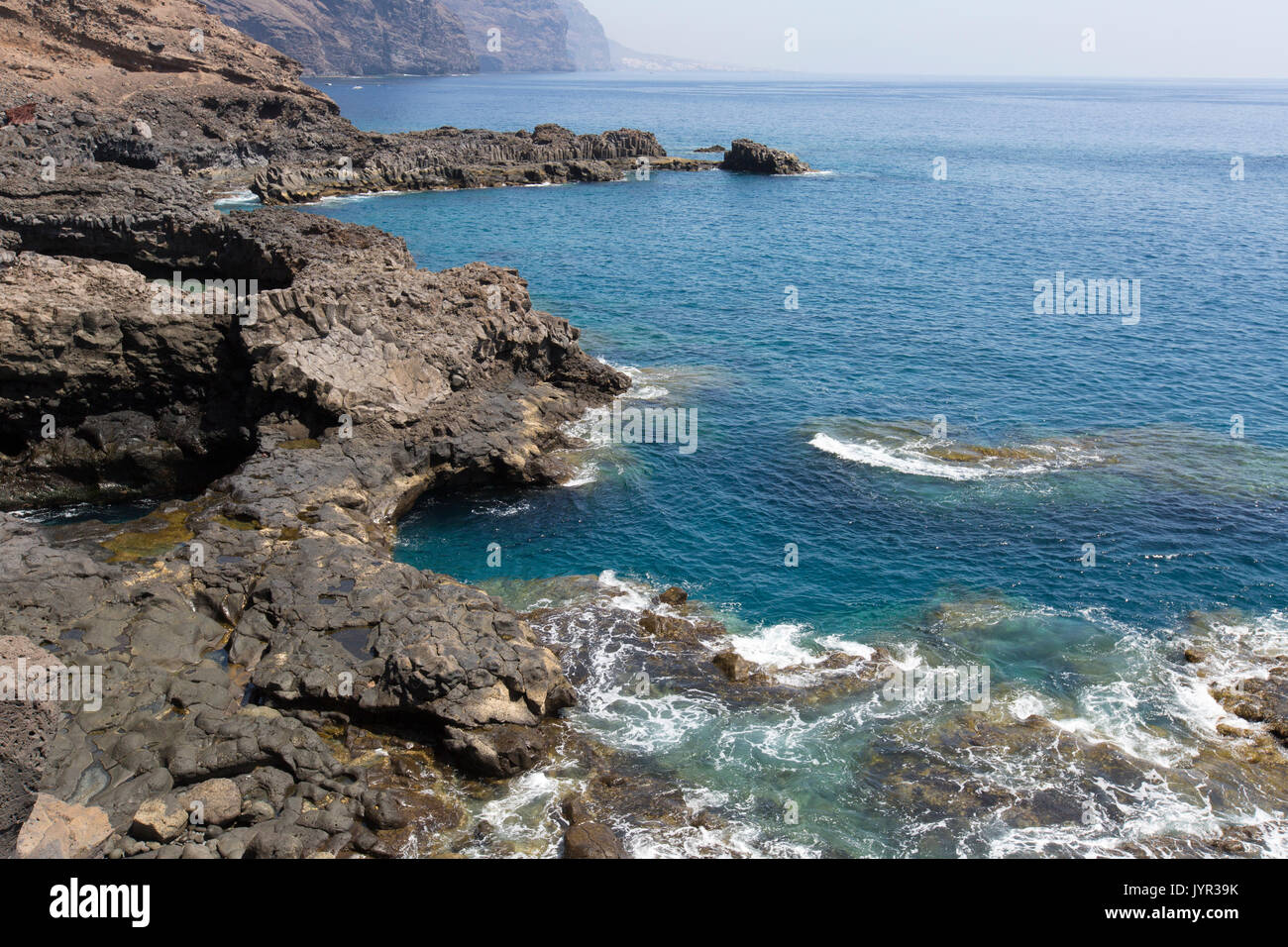 Punta de Teno, dem westlichsten Punkt der Insel Teneriffa auf den Kanarischen Inseln. Stockbild