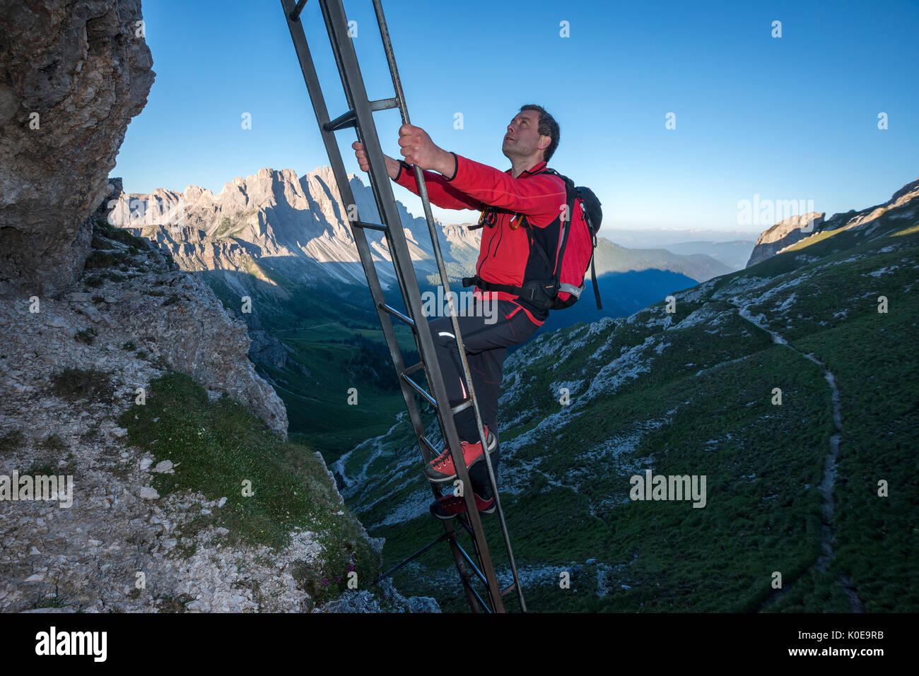 Klettersteig Leiter : Geisler di eores dolomiten südtirol italien leiter aus den