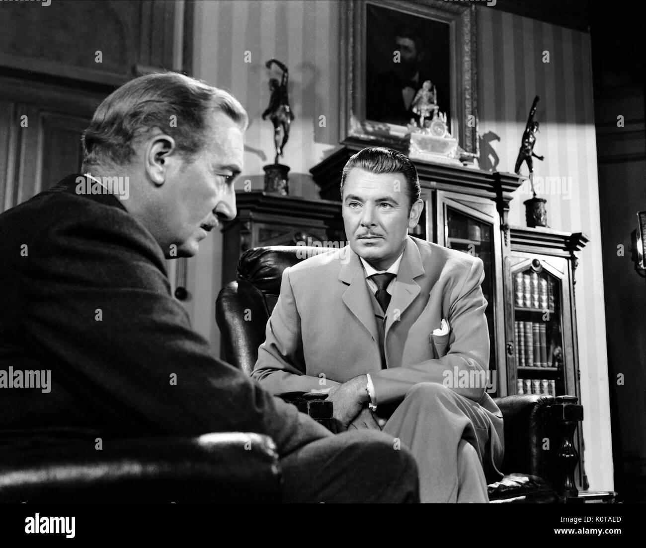 PAUL LUKAS & GEORGE BRENT EXPERIMENT PERILOUS (1944) Stockbild