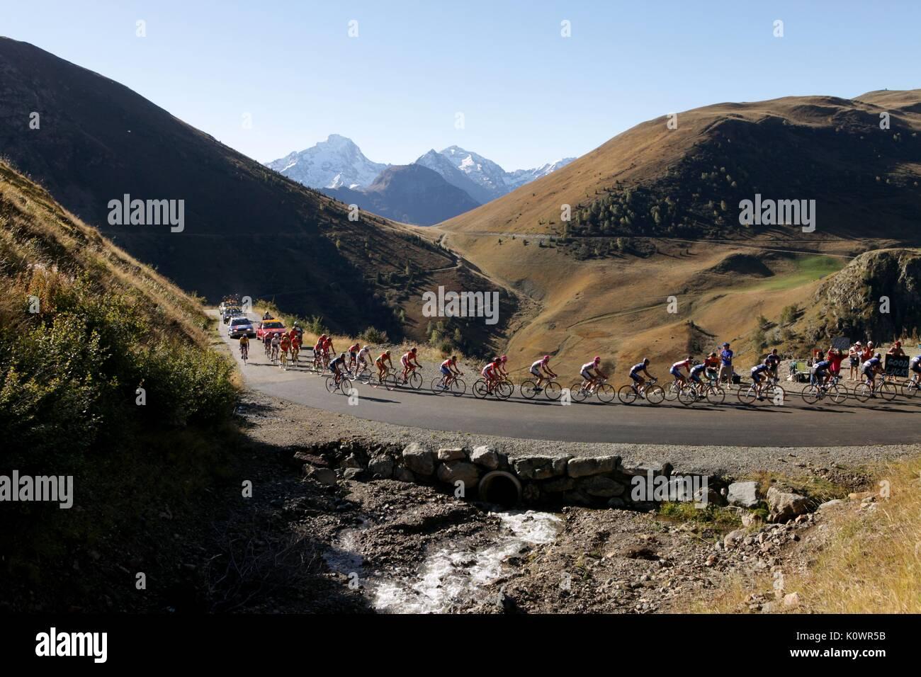 Radrennen des Programms (2015) Stockbild