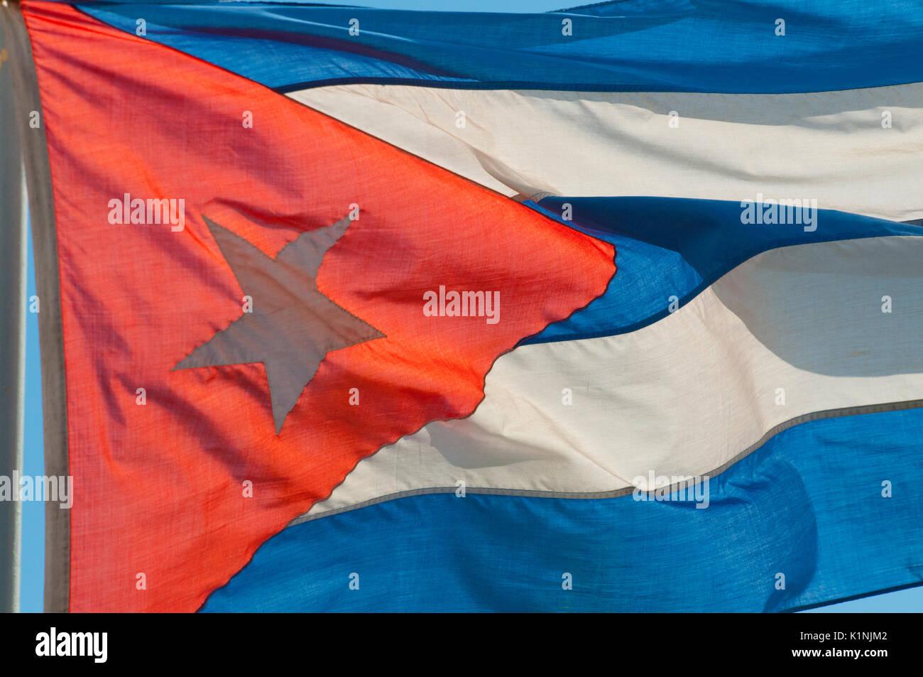 Kubanischen Nationalflagge Stockbild