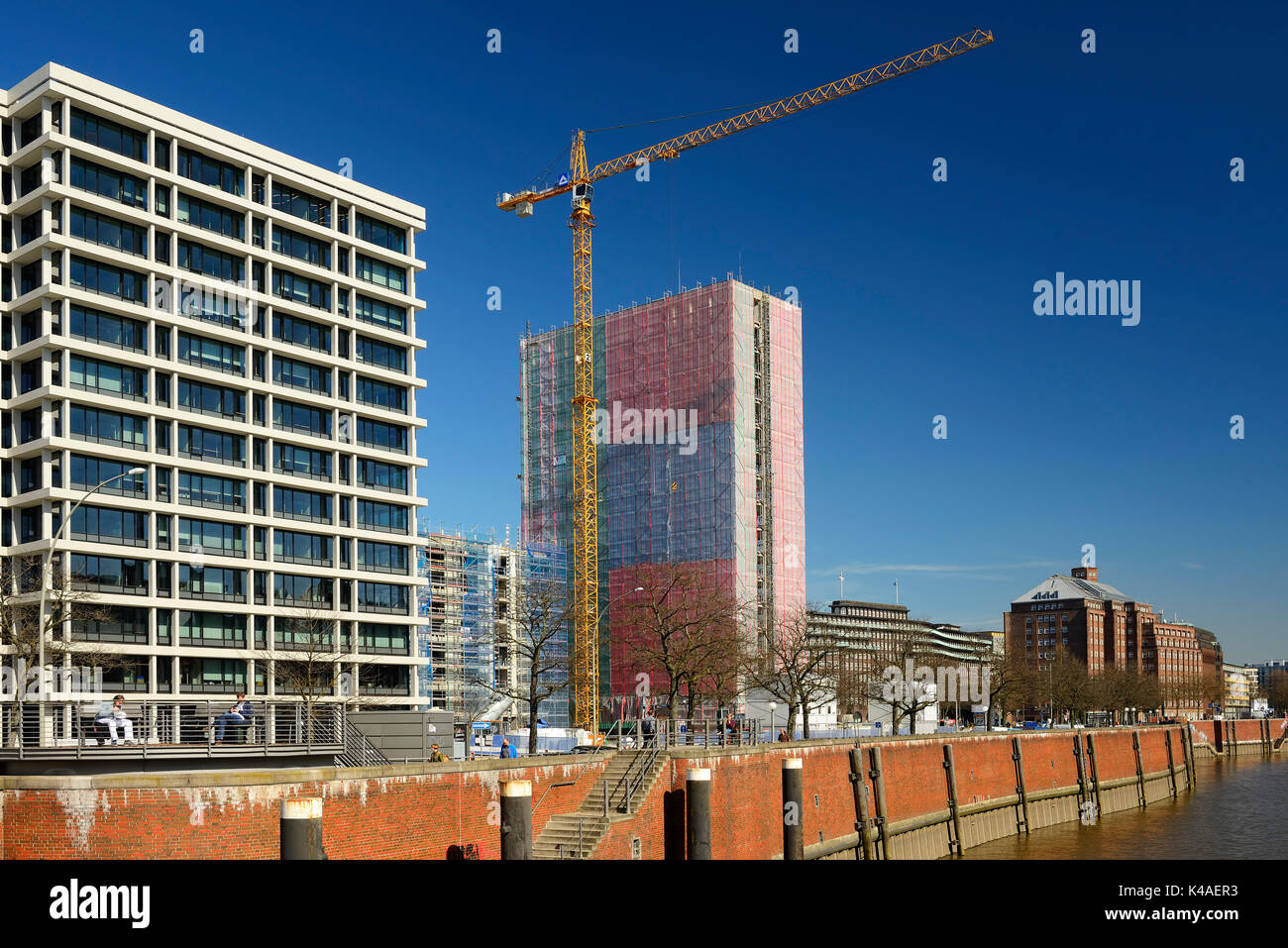 Wiederaufbau des ehemaligen Spiegel Verlag in Hamburg, Deutschland Stockbild