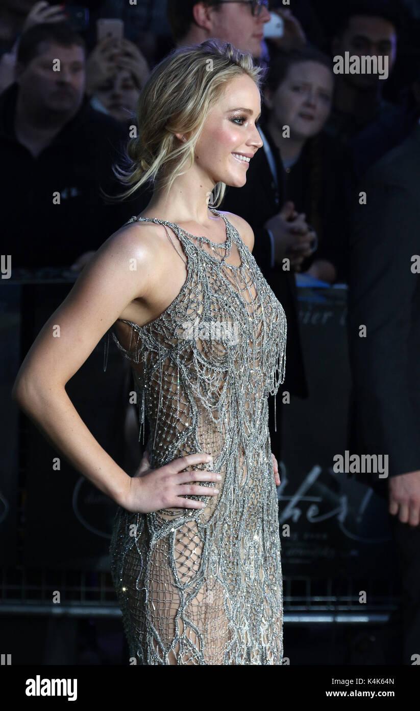 London, Großbritannien. 06 Sep, 2017. Jennifer Lawrence, Mutter! - UK Film Premiere, Leicester Square, London, UK, Stockfoto