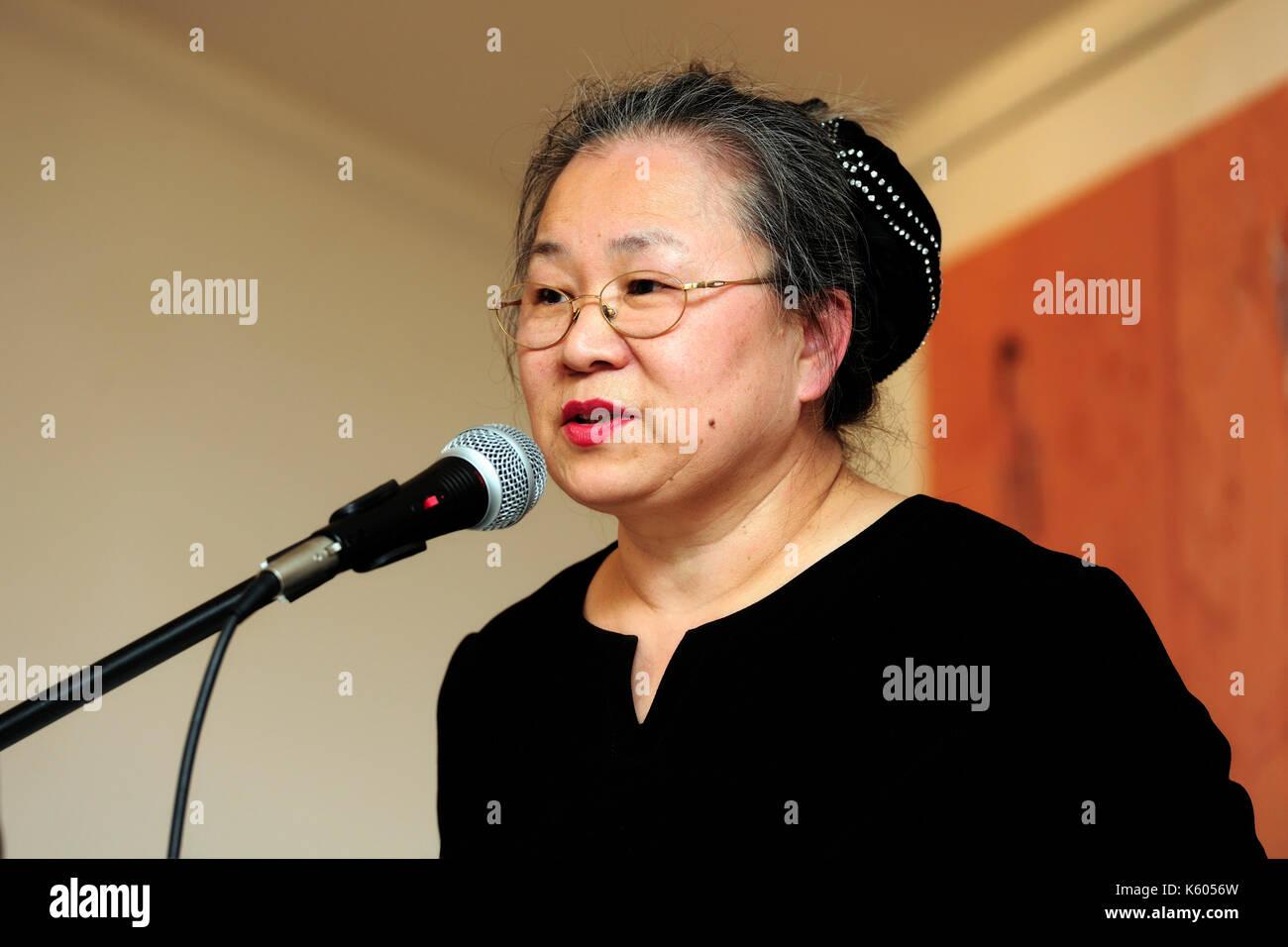 Sooki, stilles Leben, Artist, Künstler, Ausstellung, Südkorea, Youn-sook Koeppel, Stockbild