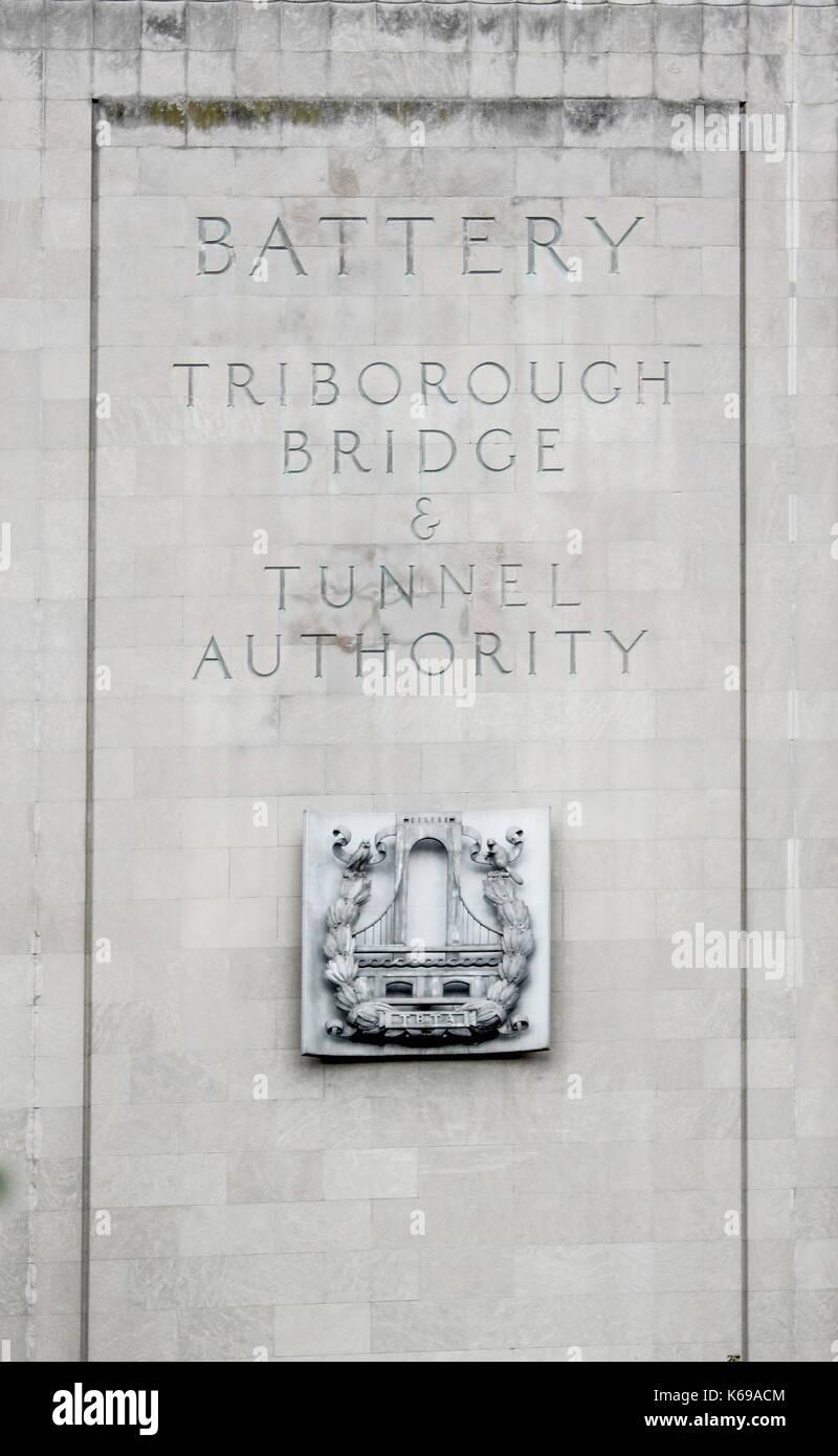 New York, USA - September 2016: Die Brooklyn Battery Tunnel offiziell als Hugh L. Carey Tunnel genannt, ist eine Stockbild