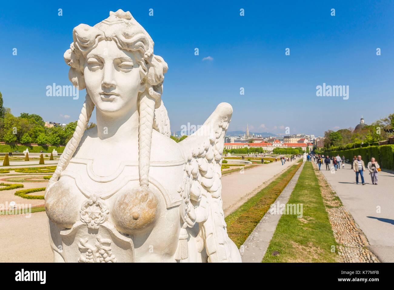 Österreich, Wien, Altstadt zum Weltkulturerbe der UNESCO, Unteres Belvedere, Barock von Johann Lukas von Hildebrandt Stockbild