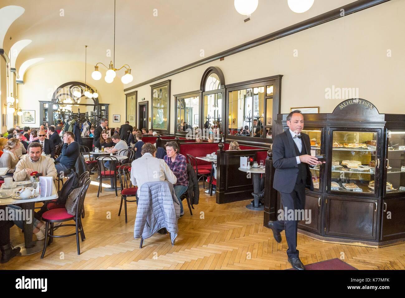 Österreich, Wien, historischen Zentrum Welterbe UNESCO, typische Kaffee Griensteidl, Stockbild