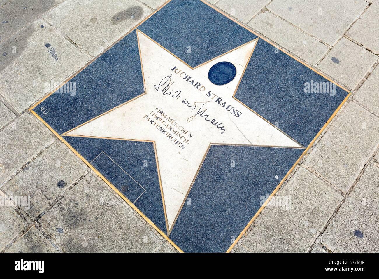 Österreich, Wien, Altstadt zum Weltkulturerbe der UNESCO, die Gasse der Stars, hier Richard Strauss Stockbild