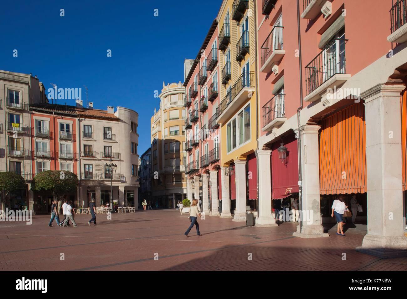 Spanien, Region Castilla y León, Burgos Provinz, Burgos, Plaza Mayor Stockbild