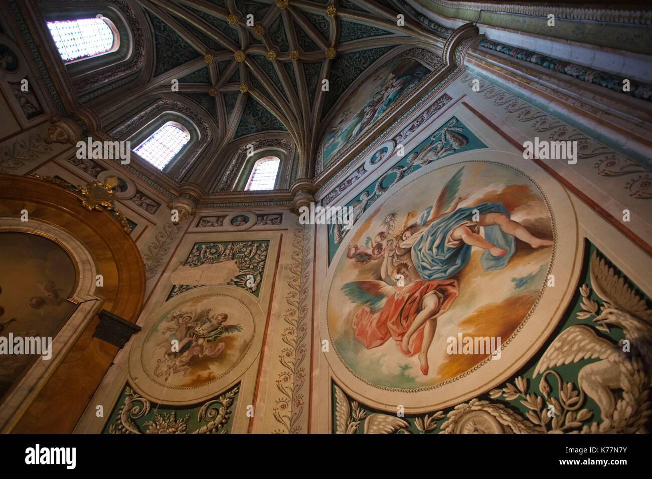 Spanien, Castilla y Leon Region, Provinz Segovia Segovia Segovia Kathedrale, religiöse Kunst Stockbild