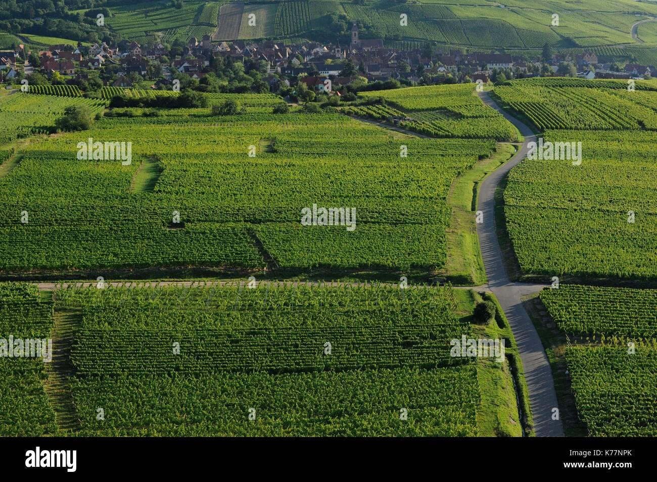 Frankreich, Haut Rhin, Weinstraße des Elsass, Riquewihr gekennzeichnet, die zu den schönsten Dörfern Stockbild