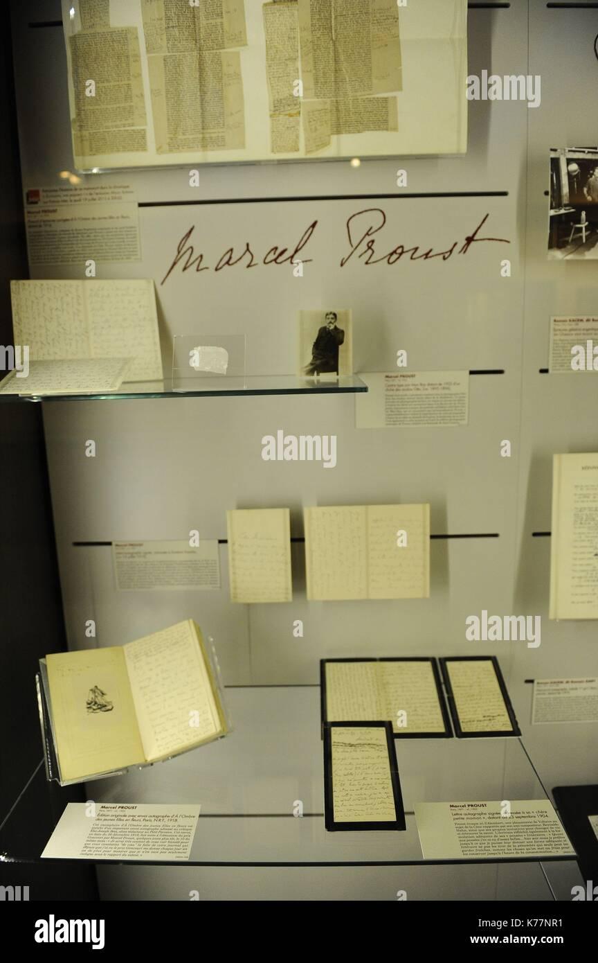 Frankreich, Paris, das Museum der Briefe und Manuskripte ist ein privates Museum, jetzt geschlossen. Stockbild