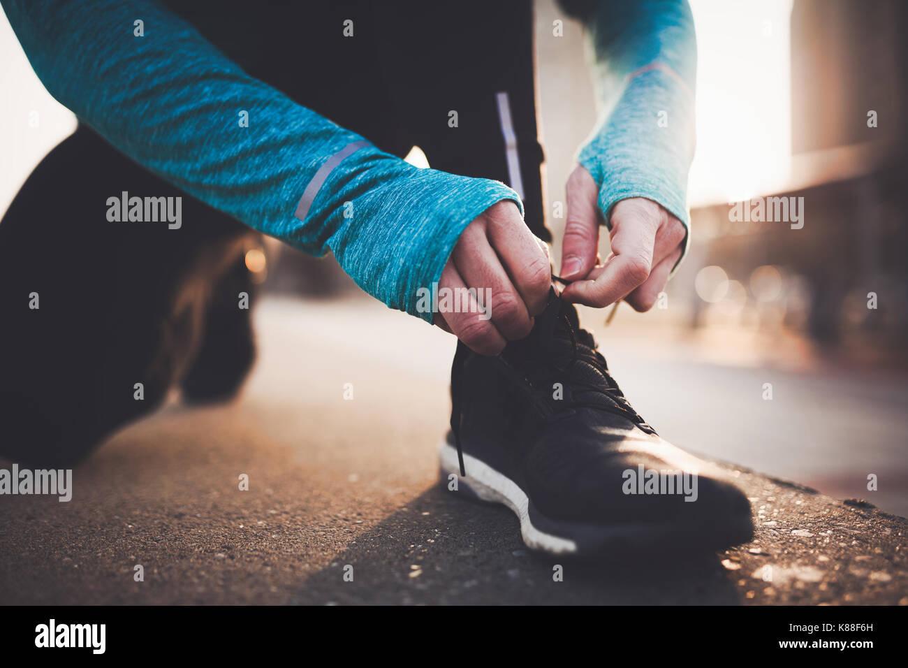 Joggen und Laufen sind Fitness Erholung Stockbild