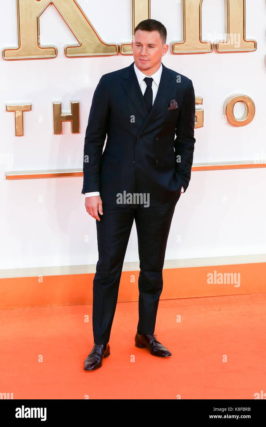 Leicester Square. London. UK 18. Sep 2017. Channing Tatum Ankunft auf dem kingsman: Der goldene Kreis Weltpremiere Stockbild