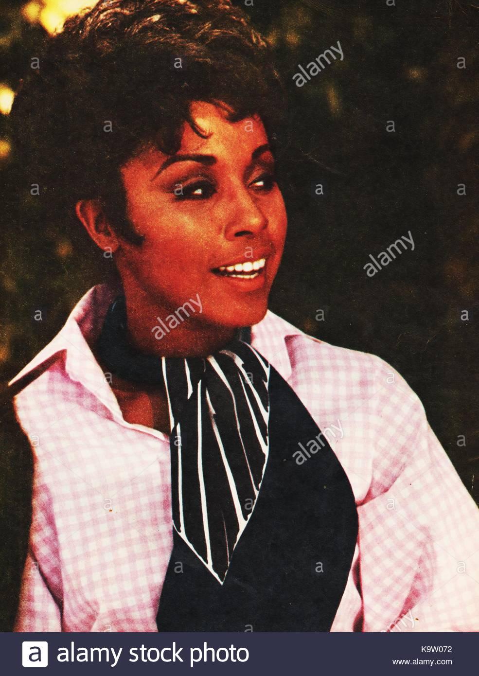 Diahann Carroll, US-amerikanischer Bühnen-, Film- und TV-Schauspielerin in einer Werbung 1969 Foto. In der Stockbild