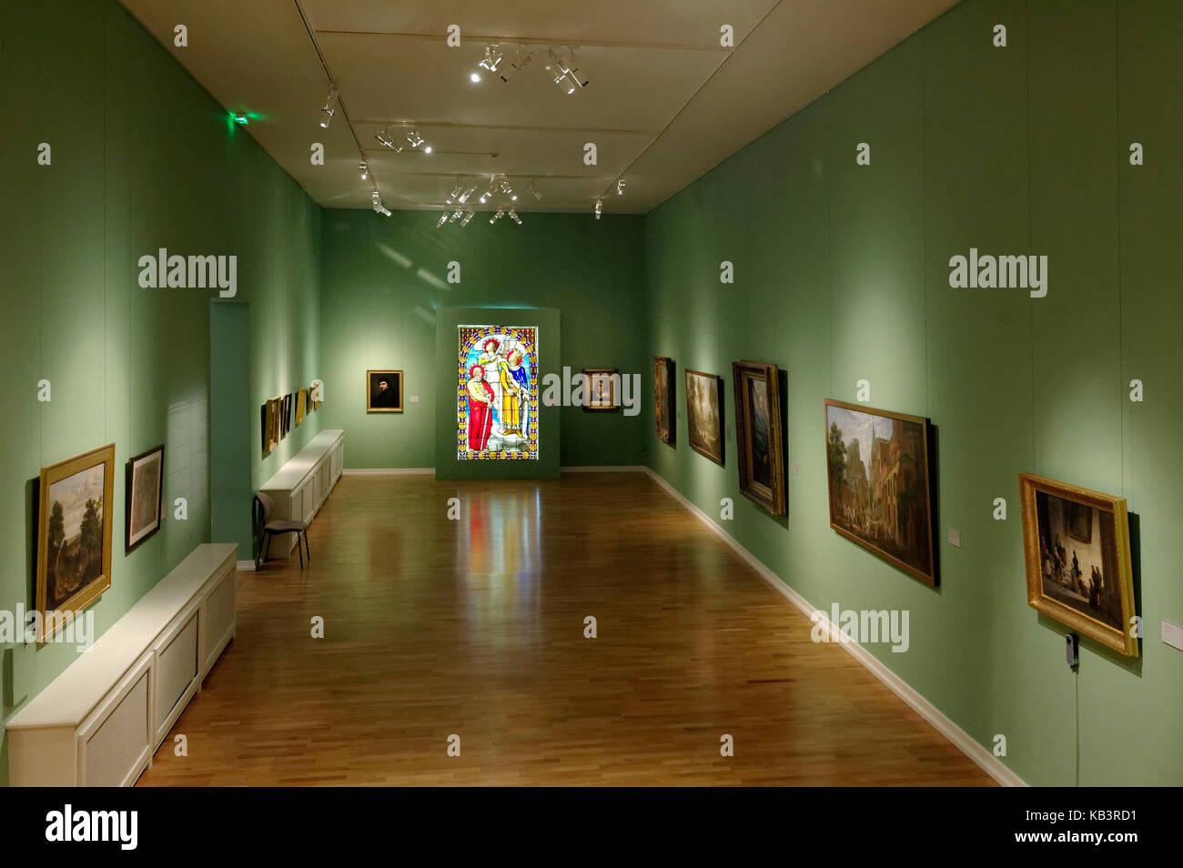 "Frankreich, Moselle, das Museum der ""Cour d'Or - Metz Métropole', Schule von Metz. Stockbild"