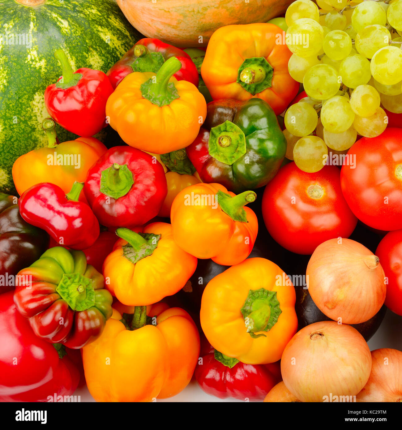 Obst und Gemüse Hintergrund Kollektion Stockbild