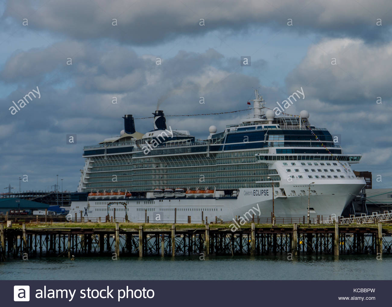 Celebrity Eclipse Kreuzfahrtschiff in Southampton, Hampshire england September 2017 angedockt Stockbild
