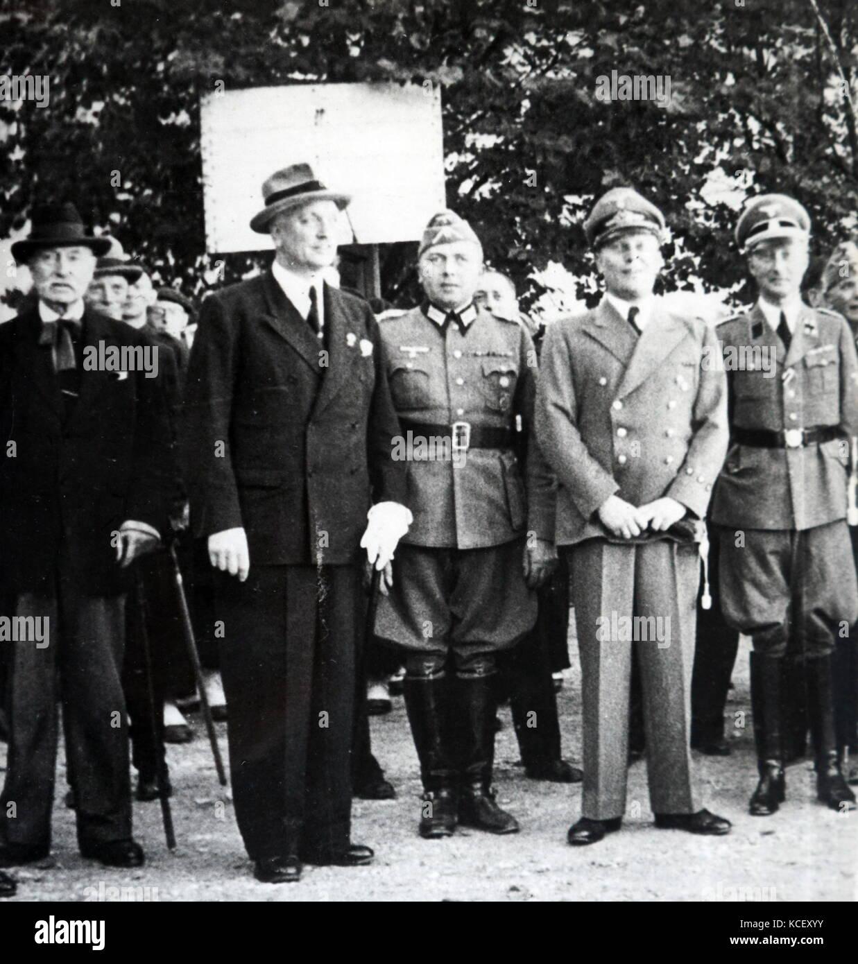 Foto von Heinrich Otto abetz, der deutsche Botschafter in Frankreich Vichy, nach den deutschen Nordfrankreich besetzen. Stockbild