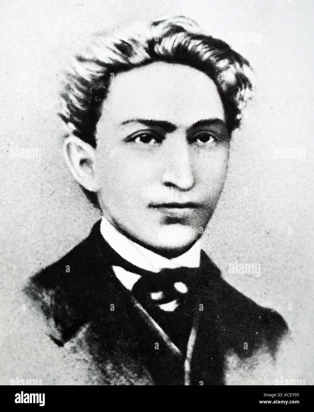 Portrait von leo Frankel (1844-1896) eine Kommunistische Revolutionäre der ungarischen und jüdischer Herkunft. Stockbild