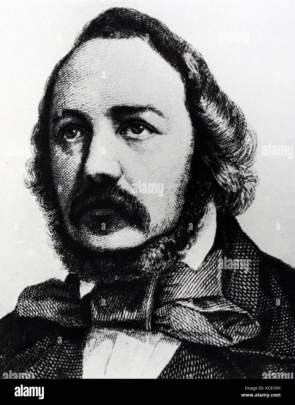 Porträt von Ferdinand Freiligrath (1810-1876), ein deutscher Dichter, Übersetzer, und liberale Agitator. Stockbild