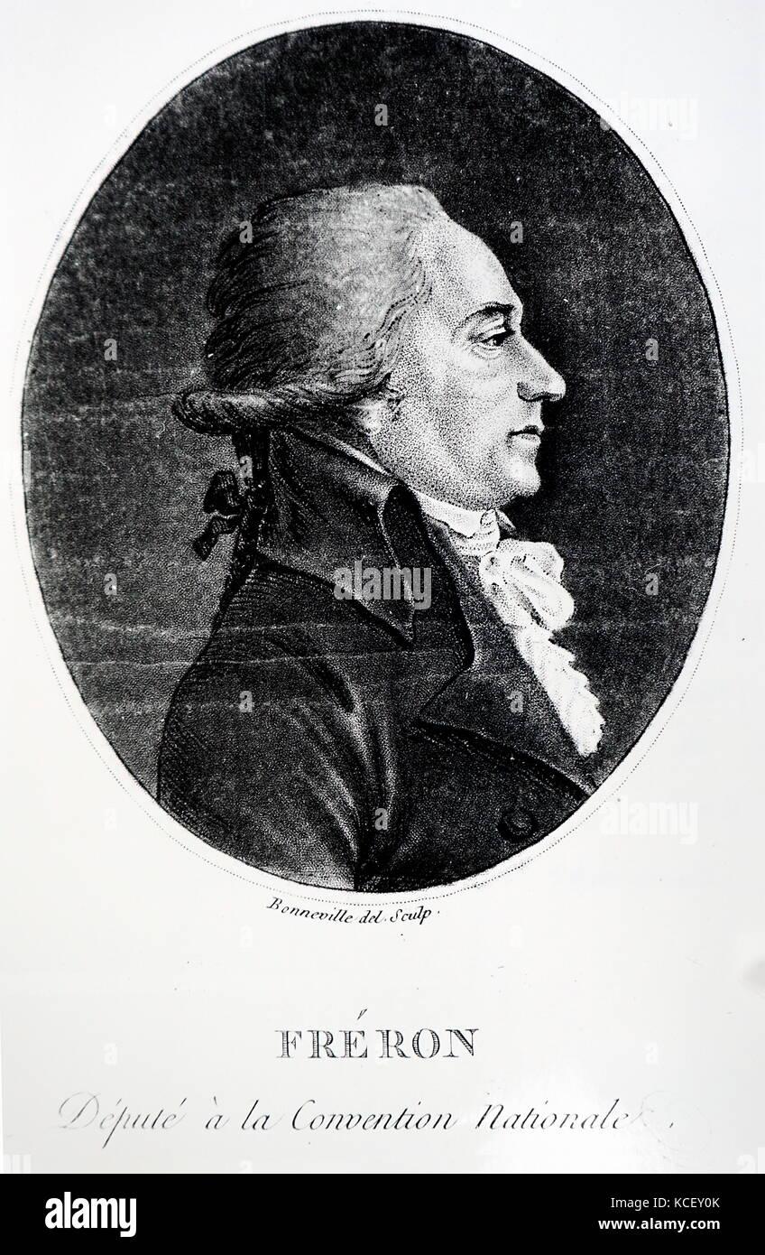 Portrait von Louis-Marie Stanislas fréron (1754-1802), ein französischer Politiker, Journalisten, Vertreter Stockbild