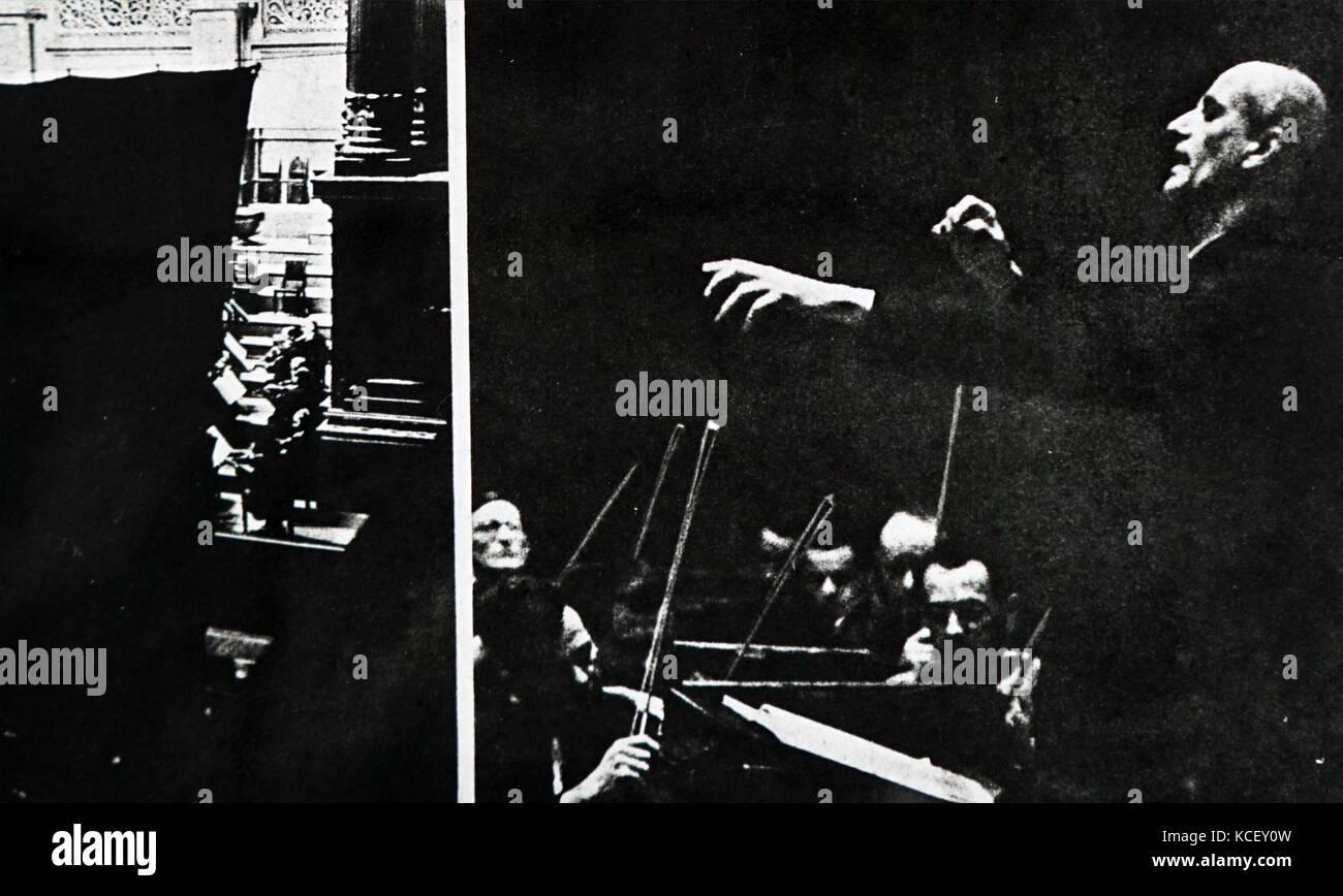 Foto von Wilhelm Furtwängler (1886-1954) ein deutscher Dirigent und Komponist. Vom 20. Stockbild