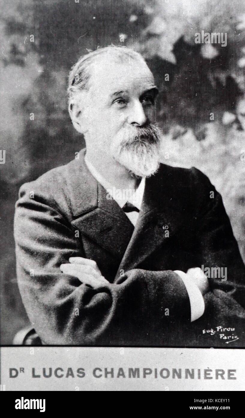 Foto von nur Lucas - championnière (1843-1913), ein französischer Chirurg. Vom 19. Stockbild