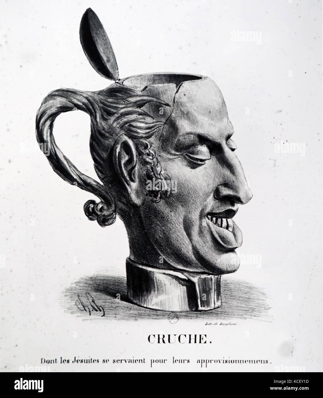 Abbildung: Darstellung von König Charles X von Frankreich (1757-1837) als Kanne. Vom 19. Stockbild