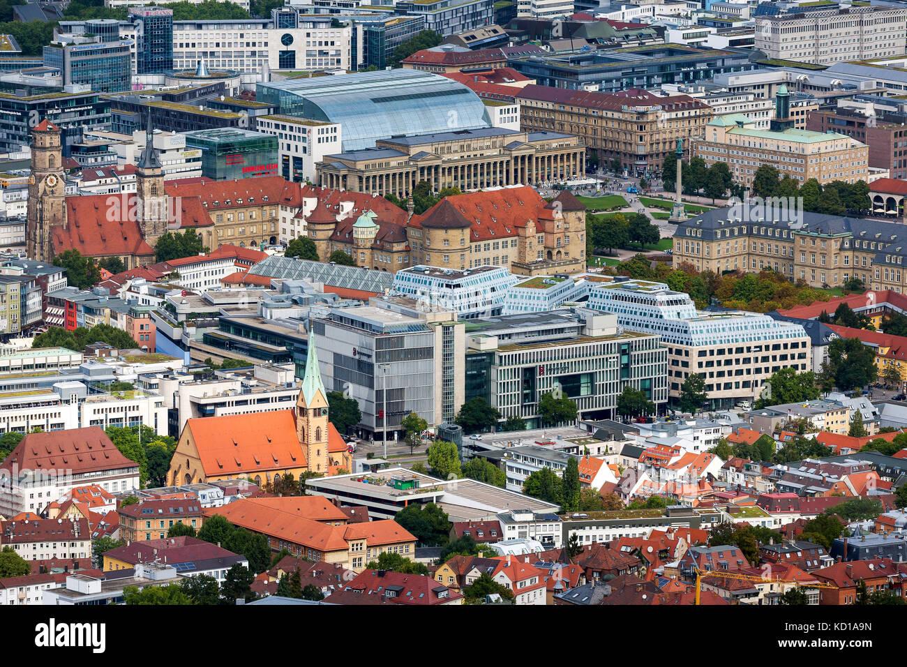 Stadtbild von Stuttgart, Baden-Württemberg. Stockbild