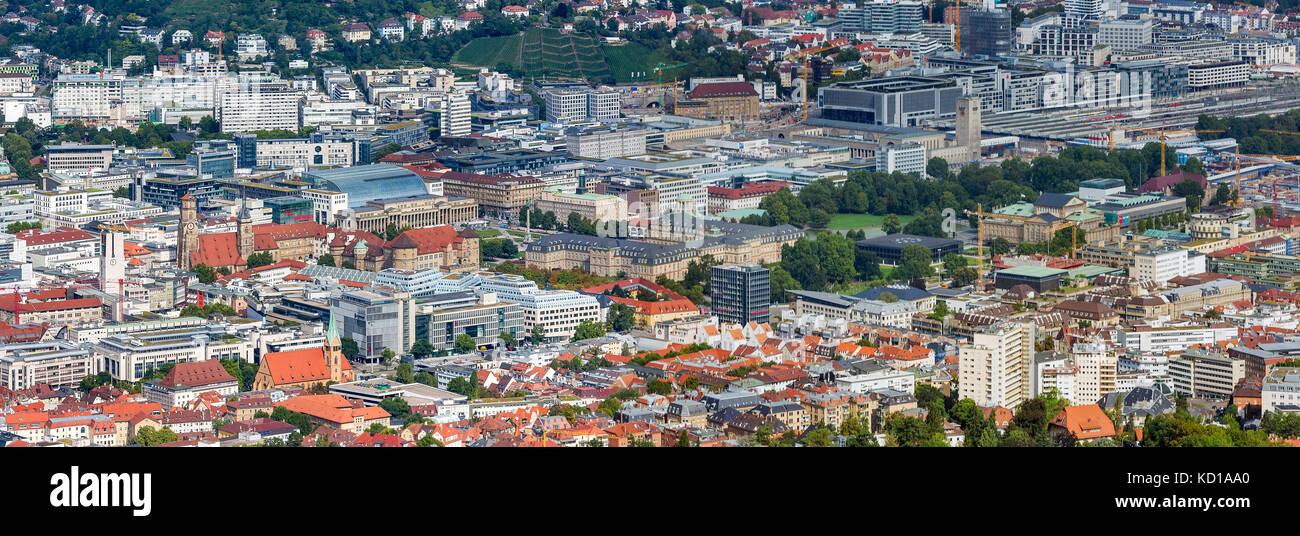 Stadtbild von Stuttgart, Deutschland, Baden-Württemberg. Stockbild