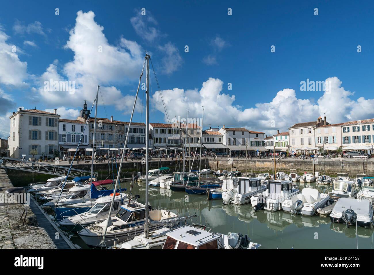Hafen von La Flotte, Ile de Re, Nouvelle-Aquitaine, Französisch westcoast, Frankreich, Stockbild