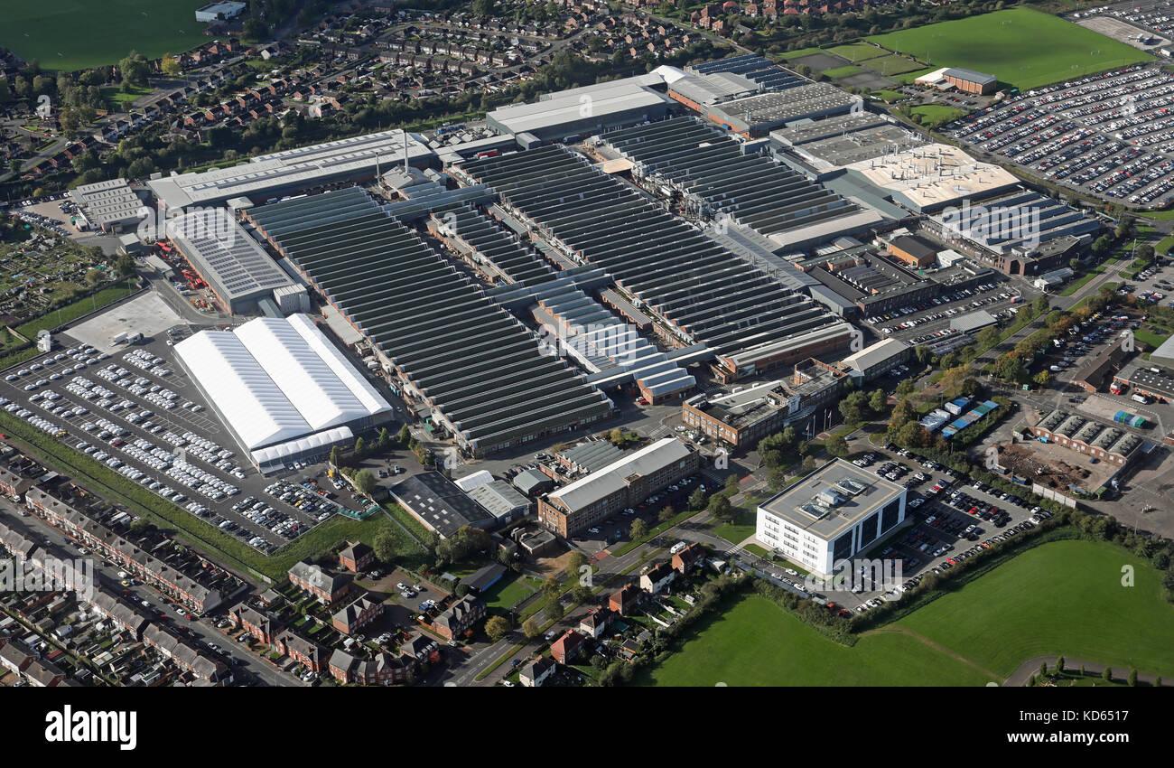 Luftaufnahme von Bentley Motors Werk in Crewe, chehsire, Großbritannien Stockbild