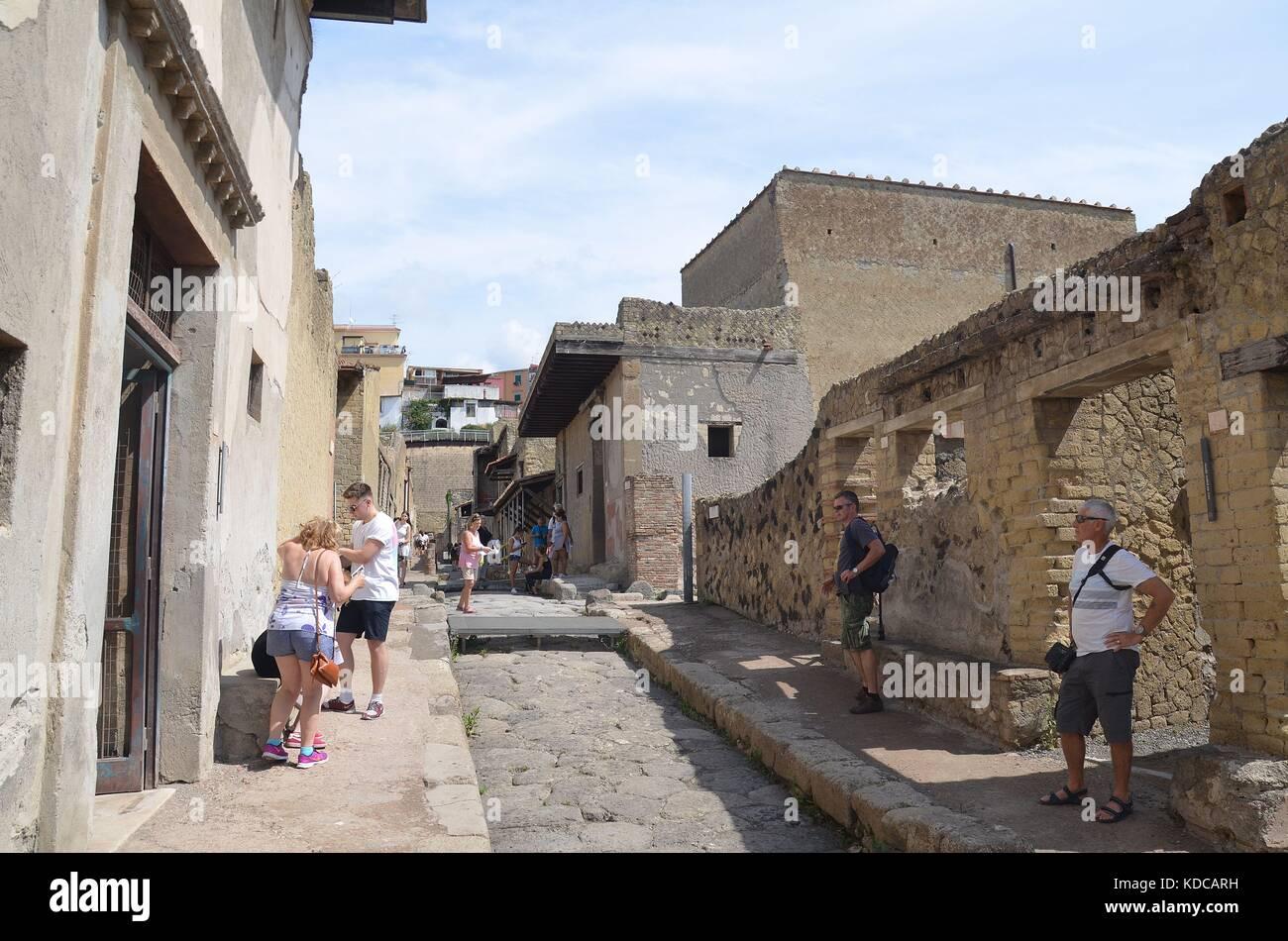 In den Ruinen von Herculaneum, Ercolano, Italienisch Stockbild