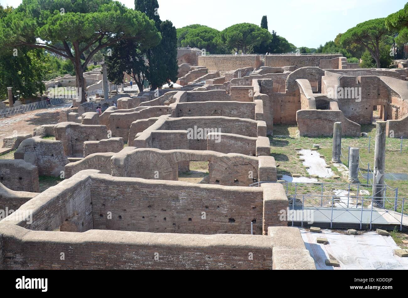 Ruinenstadt Ostia Antica, Latium, Italien Stockbild