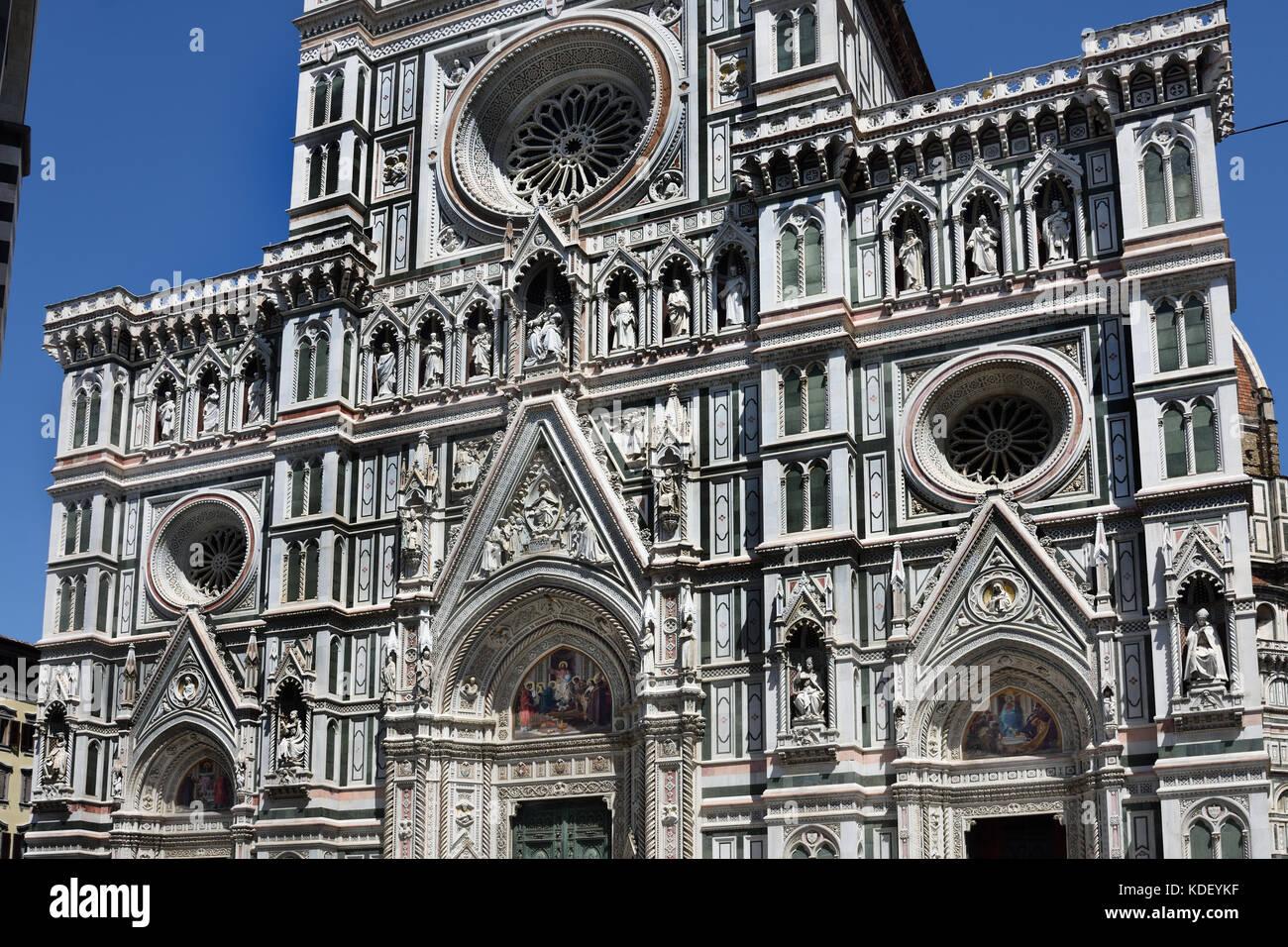 Die Kathedrale Santa Maria del Fiore - Kathedrale der Heiligen Maria der Blume 336 Florenz Italien Il Duomo di Firenze, Stockbild