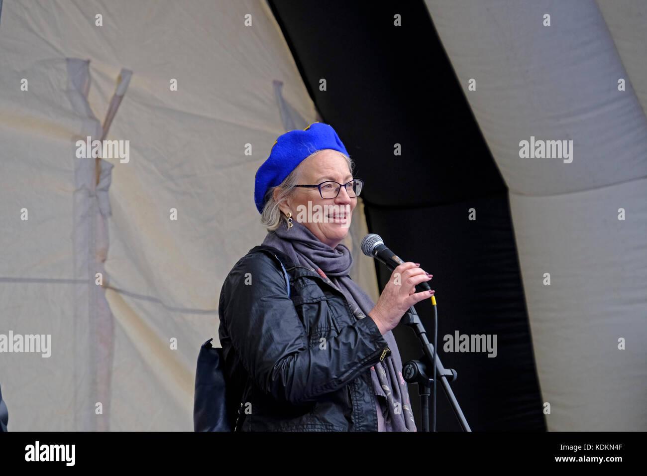 Bristol, UK. 14. Oktober, 2017. Julie Girling, konservative Europaabgeordnete für Süd-west England und Stockbild