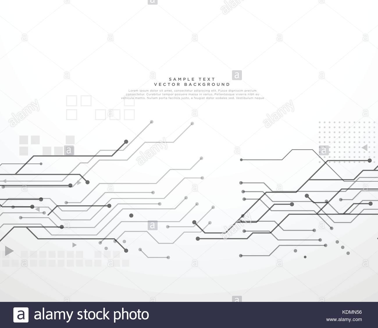 Technik Platine Hintergrund mit dynamischen Linien Stockbild